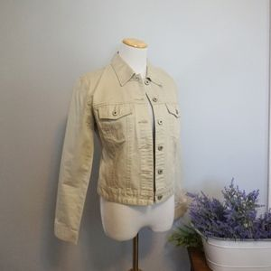 GAP Khaki Jean Button Jacket Small Cargo Pockets